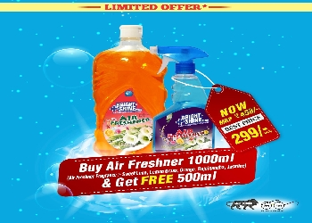 Buy Air Freshner 1000 ml & Get Free Air Freshner 500 ml - Shine India